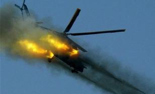 В Южной Корее упал спасательный вертолет. На борту было 7 человек