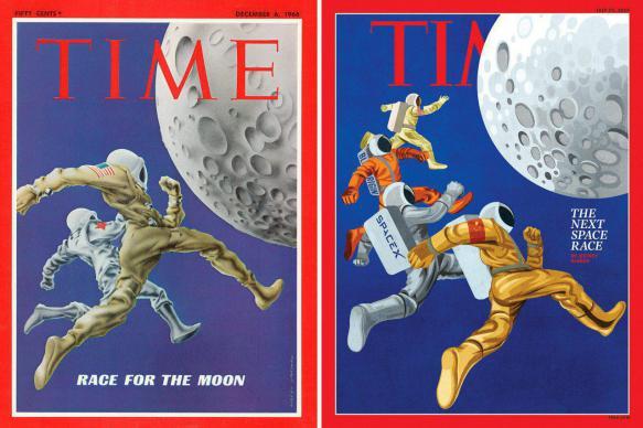Time повторил обложку журнала с покорителями Луны без России