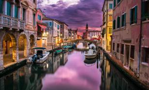 Из-за отливов в Венеции упал уровень воды в каналах