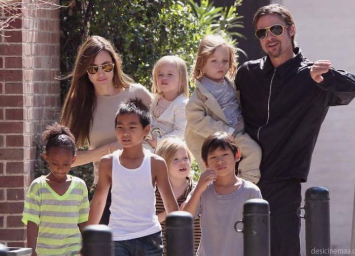 Брэд Питт и Анджелина Джоли никак не могут поделить детей