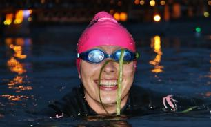 Столичная спортсменка провела сенсационную тренировку в Москве-реке. ФОТО