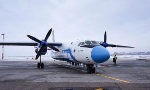 В Якутии у Ан-24 после посадки лопнули колеса шасси