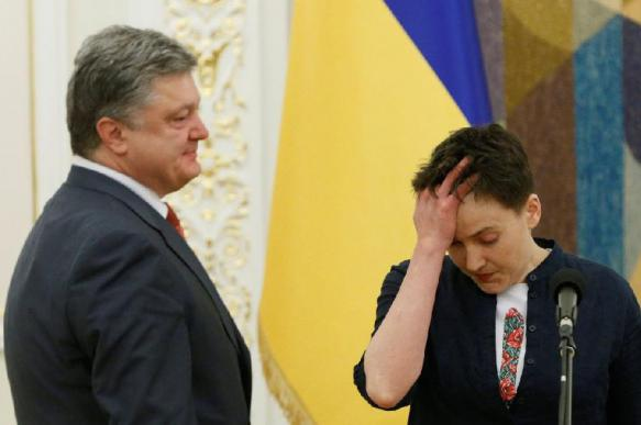 """Савченко рассказала об """"отвращении"""" на встречах с Порошенко"""