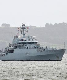 Британский разведывательный корабль обнаружили в Черном море
