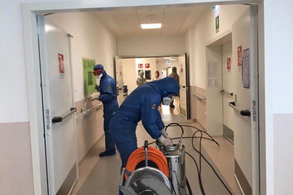 Российские военные продезинфицировали еще пять больниц в Италии