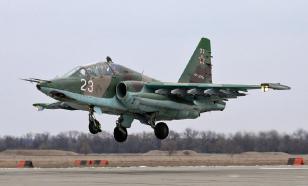 Видео ракетного обстрела со штурмовиков Су-25 опубликовало Минобороны
