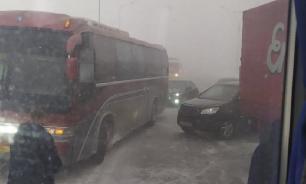 В Кузбассе перевернулся автобус, следовавший из Барнаула в Кемерово