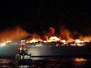 Паром загорелся у острова Ява: 17 жертв