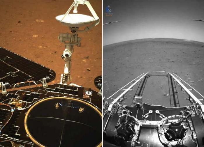 Китай опубликовал первые снимки Марса