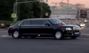 Кортеж Путина был замечен на пути в Кремль