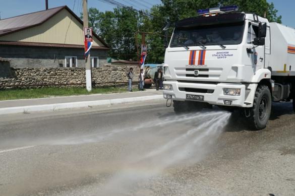 Бойцы МЧС приступили к дезинфекции социальных объектов в Дагестане