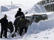 Из-за сильного снегопада в Японии погибли 8 человек