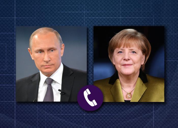 Путин  Меркель: Киев целенаправленно обостряет обстановку в Донбассе
