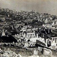 Развалины армянской части Шуши. В таком виде скелет города простоял с 1920 по 1967 годы.