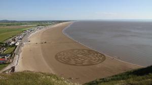 Удивительные круги на песке