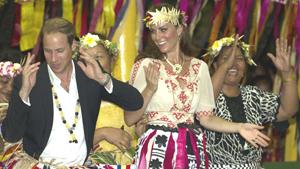 Уильям и Кэтрин сплясали в Тувалу