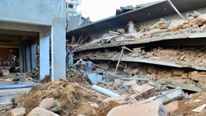 В индийском штате Гоа рухнуло здание