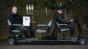 Самый длинный в мире скутер