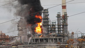 Пожар на Саратовском НПЗ ликвидирован, один человек погиб