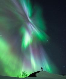 Северное сияние - огненный танец на небесах