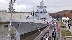 """Российский фрегат """"Колчан"""" поступил на вооружение ВМС Индии"""