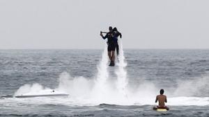 Человек - водяная ракета