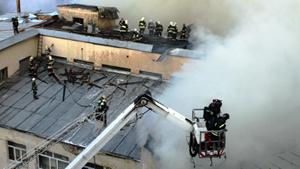 Пожар на территории Военной академии имени Жуковского