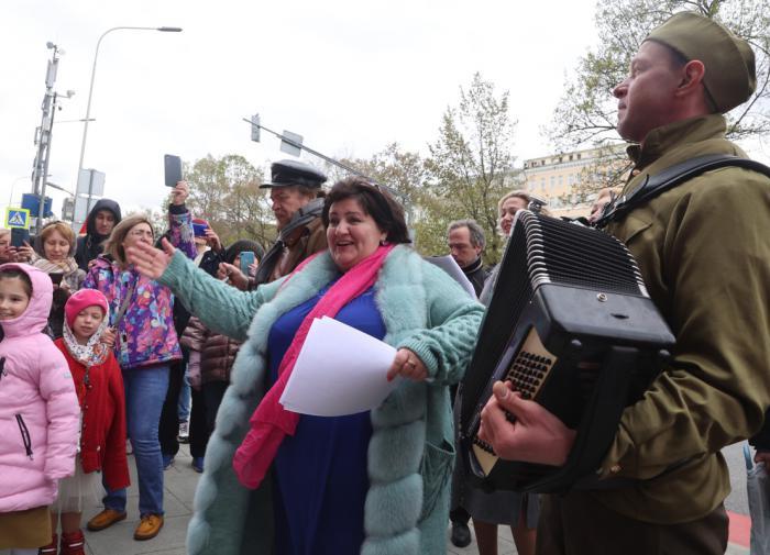 """Акция """"Победный хор"""", МХАТ им. М. Горького"""