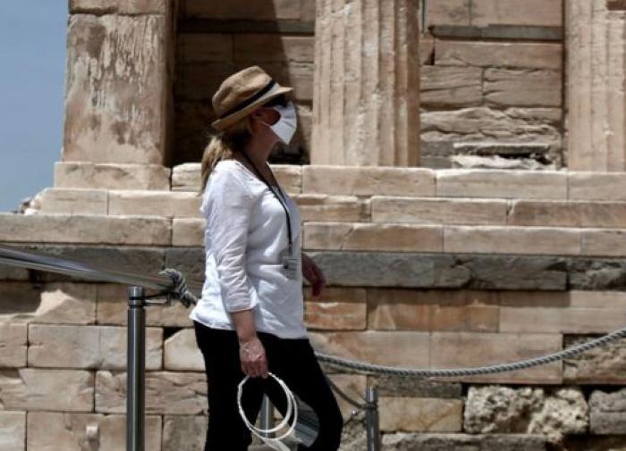 турист в Греции