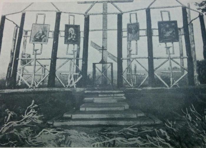 """Сборно-разборная полковая церковь. Журнал """"Нива"""" 1916 год"""