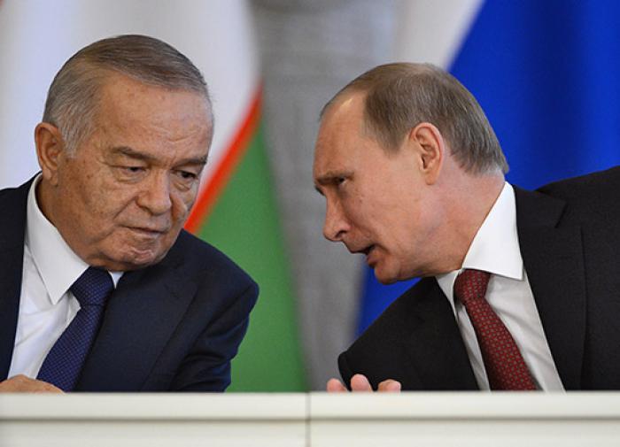 Владимир Путин и бывший президент Узбекистана Ислам Каримов