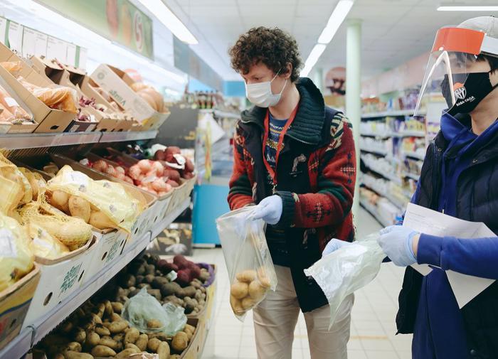 волонтер, доброволец, магазин, супермаркет