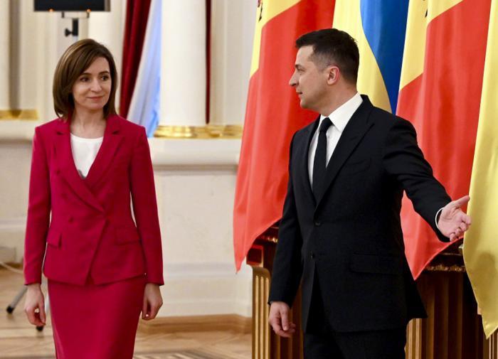 Владимир Зеленский и Майя Санду