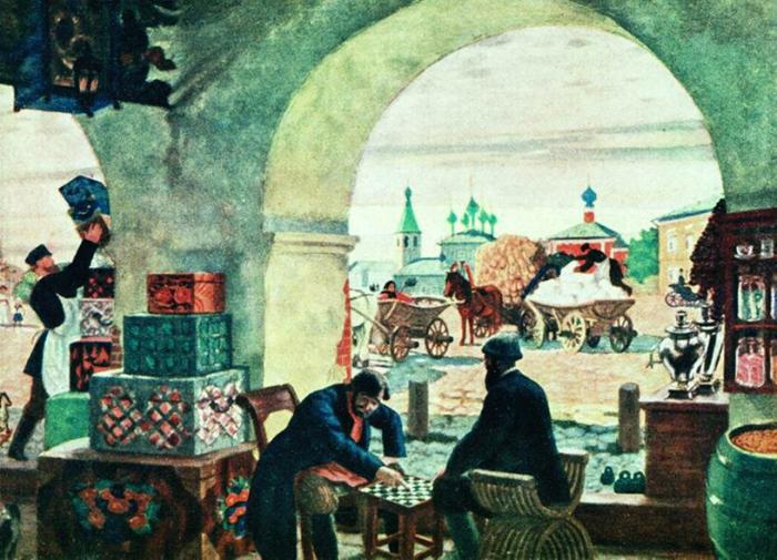 Картина Кустодиева Московский трактир