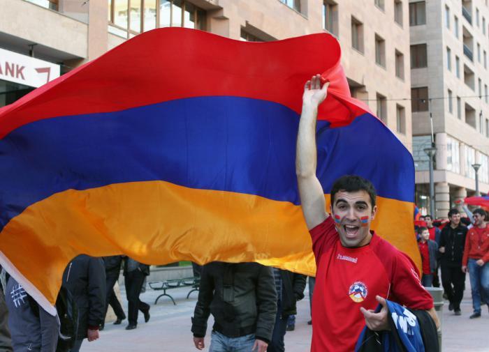 армяне, флаг Армении