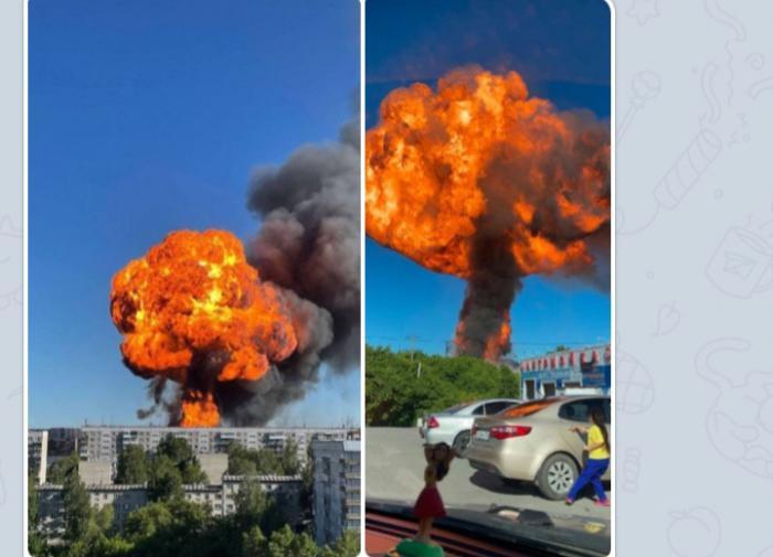 Взрыв на АЗС в Новосибирске