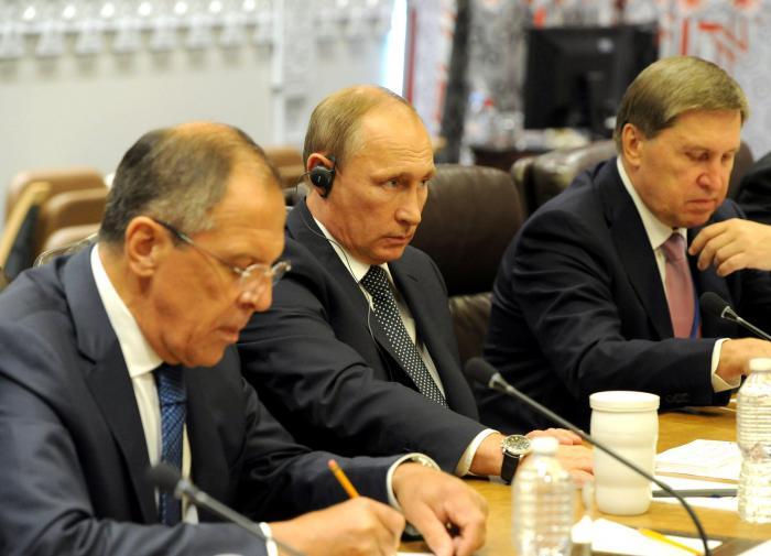 Сергей Лавров, Владимир Путин, Юрий Ушаков