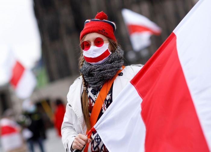 Демонстрант, события в Белоруссии