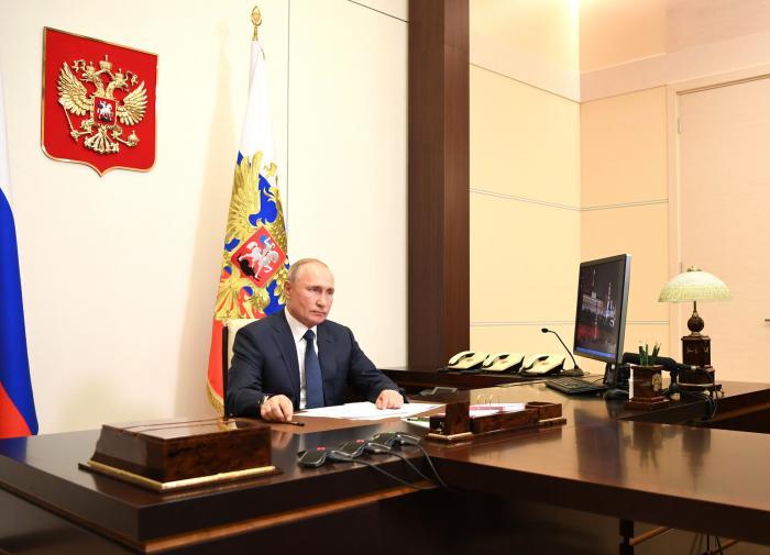 Владимир Путин в Ново-Огарёво
