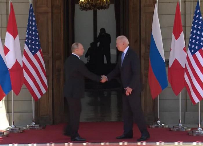 Владимир Путин и Джо Байден.