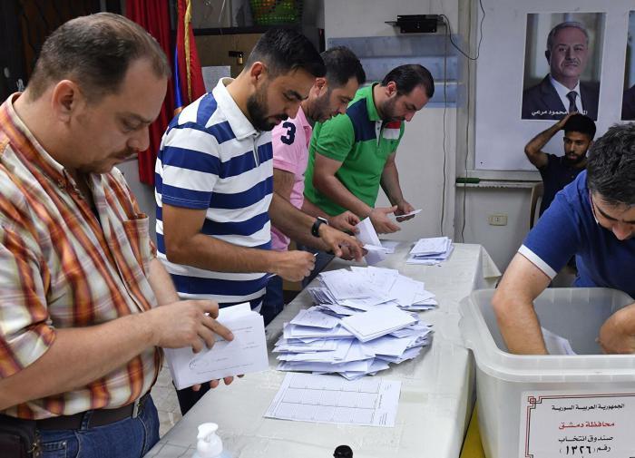 выборы в Сирии, подсчёт голосов