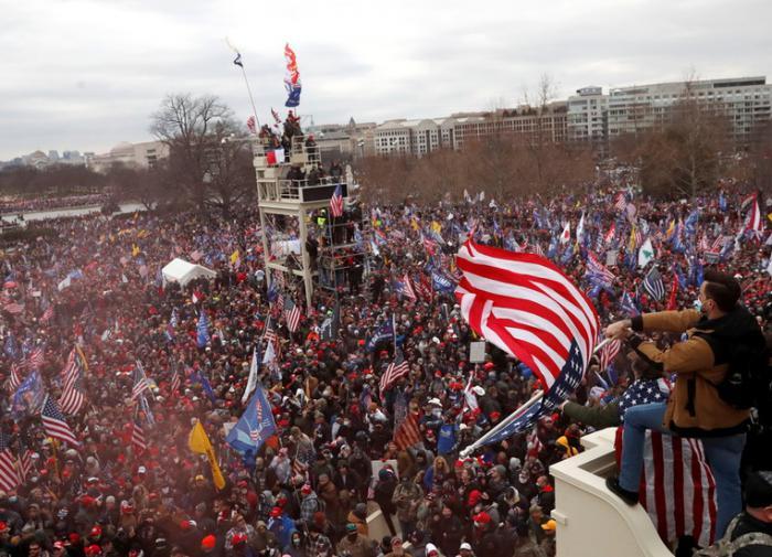 протест у здания Конгресса США
