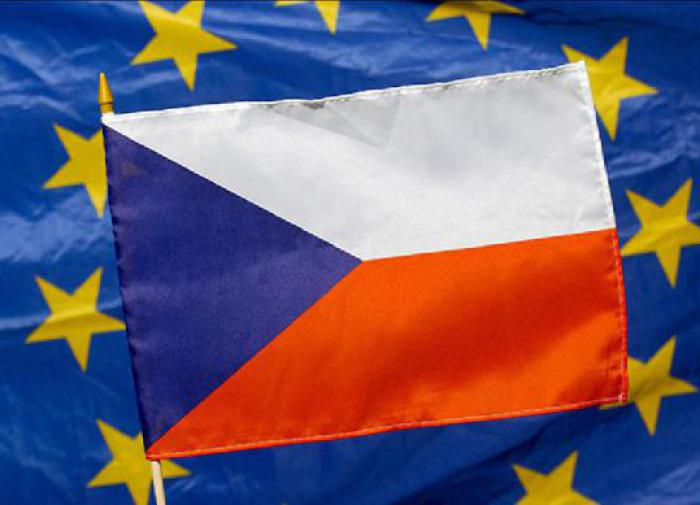 Флаг Чехии и ЕС