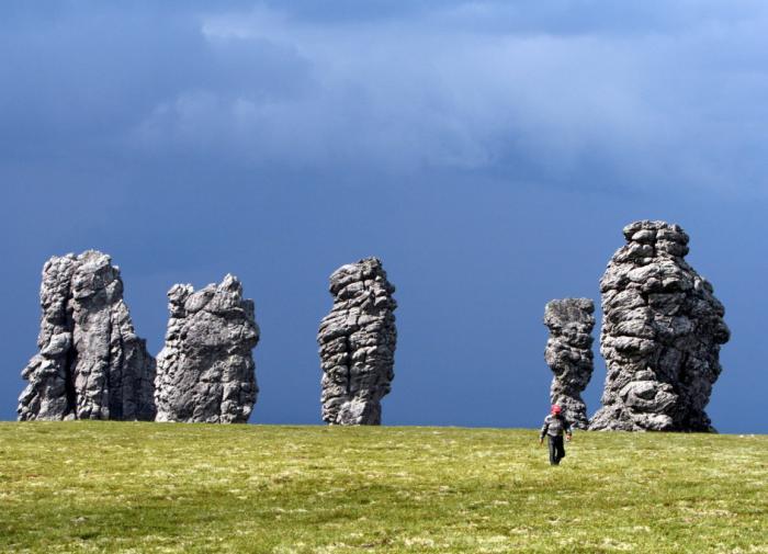столбы выветривания плато Маньпупунёр, Коми