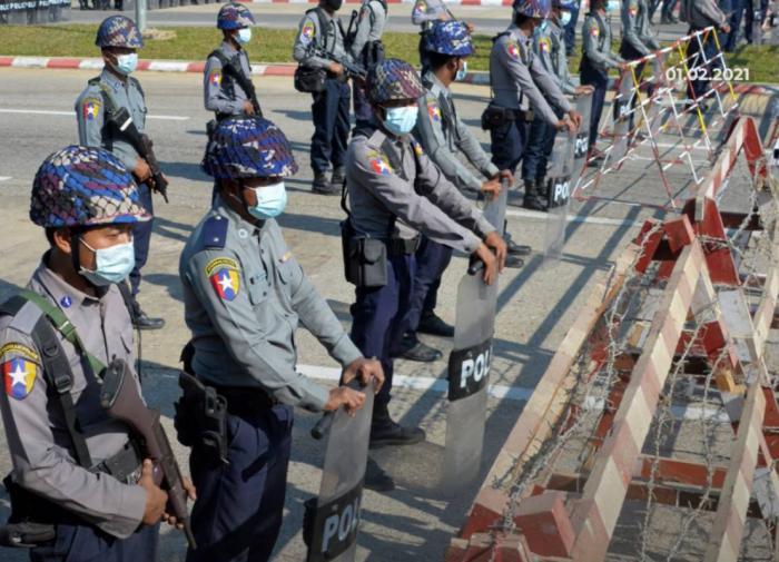 Кордон полиции, Мьянма